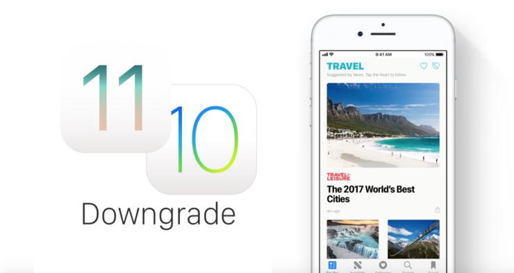 برگشت از iOS 11.0.3 به iOS 11.0.2 و یا 11.0.1