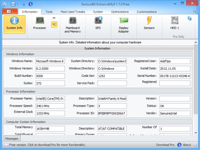 EnhanceMy8 یک برنامه تعمیر و نگهداری قدرتمند ویندوز 8 است