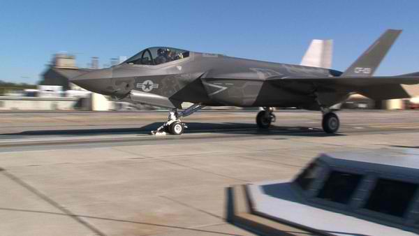 راه اندازی سیستم الکترومغناطیس توسط نیروی دریایی ایالات متحده بر روی F-35C