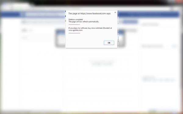Facebook - Delete All Messages