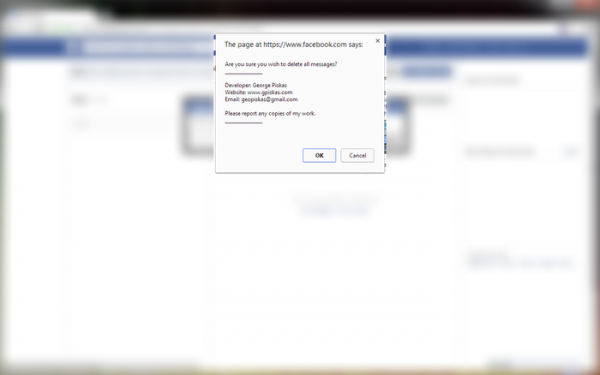 how to delete fb messages web
