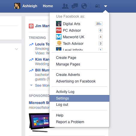 Facebook-Nav-Settings