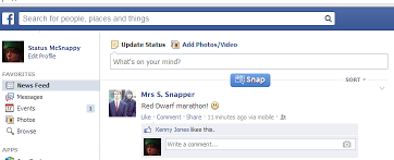 Facebook-snapper-status-screenshot