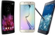 مقایسه خمیده ها؛ Galaxy S6 edge با Galaxy Note Edge و LG G Flex 2