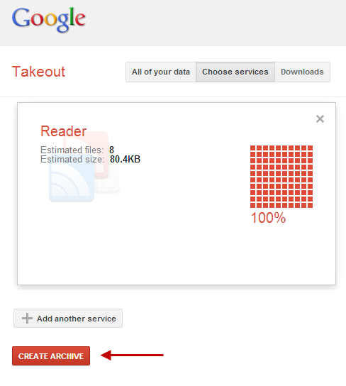 Google Reader-Compression Finished