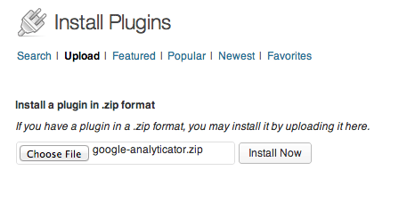 GoogleAnalyticator-Installation