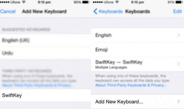 How To Add Remove Third-Party Keyboards In iOS 8 (1)