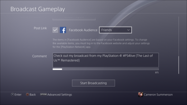 share کردن گیمپلی PS4