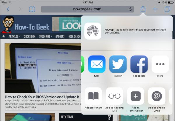 iOS 8 از افزونههای اپلیکیشن