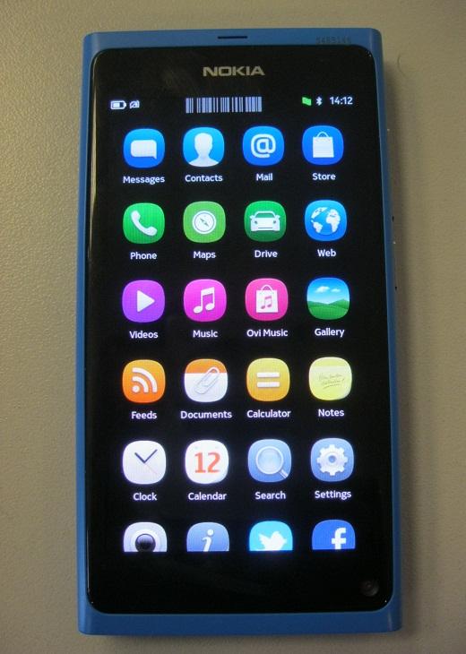 صفحه home screen نوکیا N9