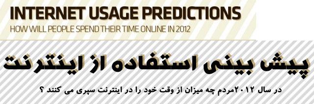در سال 2012 مردم چه ميزان از وقت خود را در اينترنت سپري ميكنند؟ (اينفوگرافيك)