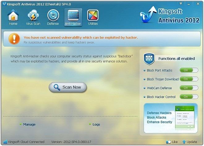 Kingsoft Antivirus 2012 AntiHack