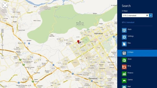 مرور نقشه های گوگل و دریافت نوبت به نوبت مسیرها در ویندوز 8