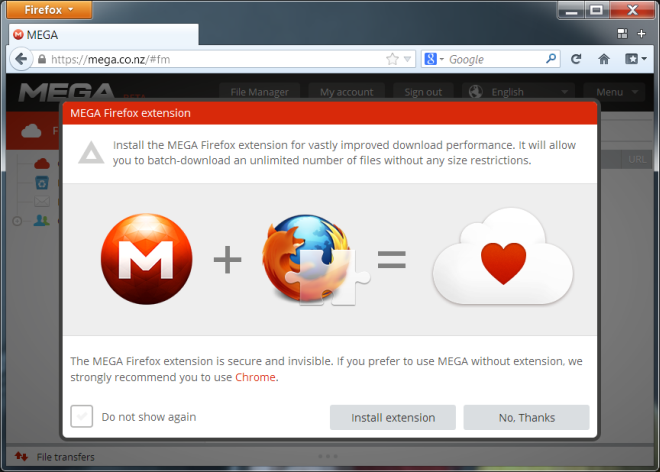 Mega-Firefox-Add-on