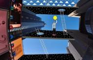 تصویرگری در آسمان بین ساختمان های بلند