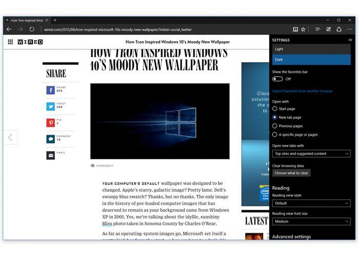 نام مرورگر اج مایکروسافت به طور رسمی در آخرین نسخه پیش نمایش ویندوز ۱۰ پرده برداری شد