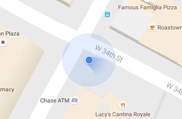 بروز رسان جدید Google Maps کاربران اندرویدی را با یک نور آبی هدایت می کند