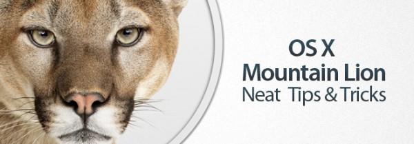 OS X Mountain Lion Tips Tricks