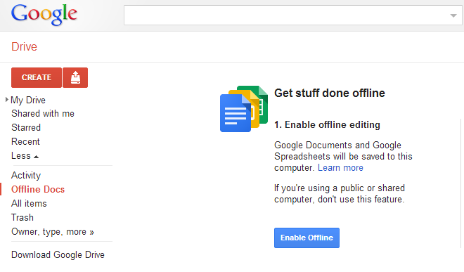 Offline Google Drive