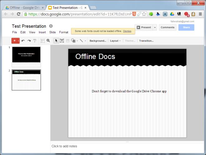 Offline Presentation-Google Drive