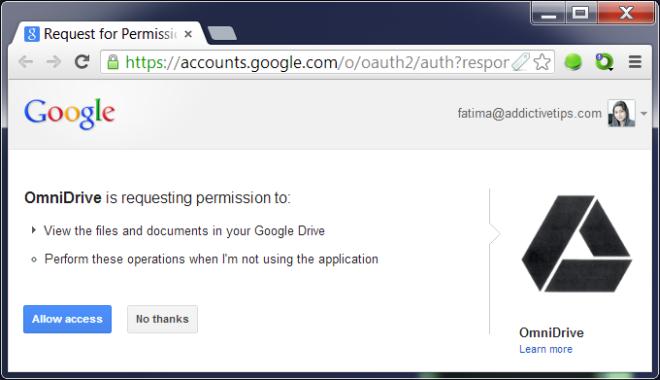 OmniDrive : جستجوی گوگل درایو از Omnibar کروم