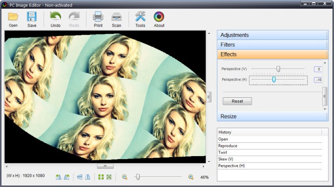 PC Image Editor_Effects
