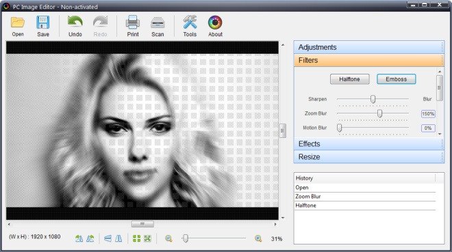 PC Image Editor_Filters