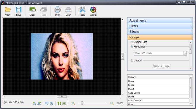 PC Image Editor_Resize