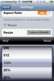 Photo Resizer-iOS-Options