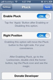Pluck-iOS-Menu