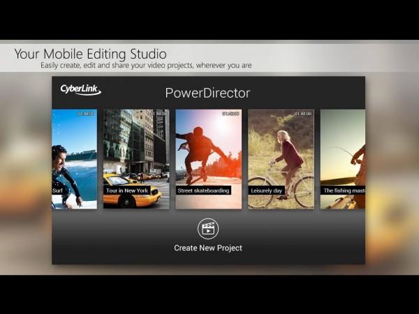 PowerDirector برای ویرایش فیلم