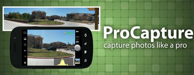 ProCapture: برنامه کاربردی جایگزین دوربین های دستی برای آندروید Wideshots