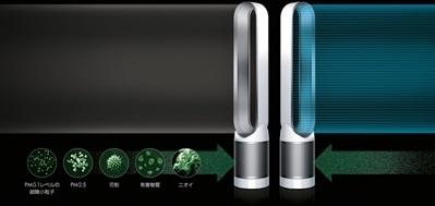پنکه جدید بدون پره Dyson یک فیلتر هوای قدرتمند نیز می باشد