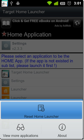 Reset-Home-Launcher