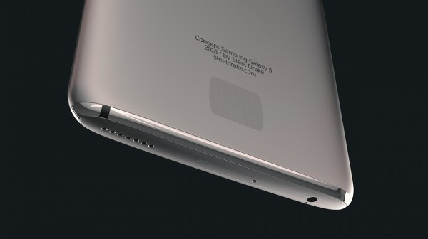 تصویر مفهومی Samsung Galaxy S8