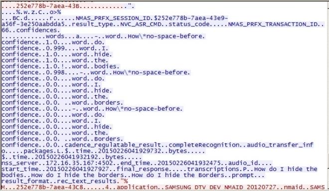 ارسال اطلاعات کد گذاری نشده توسط تلویزیون هوشمند سامسونگ