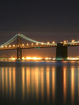 San-Francisco-Oakland-Bay-Bridge-at-night