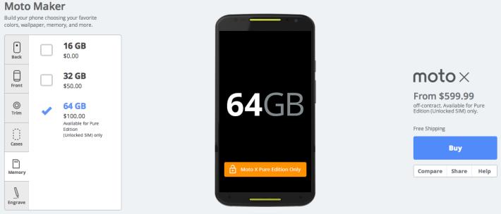 تلفن همراه Moto X Pure Edition موتورلا با حافظه ۶۴ گیگابایتی هم اکنون در دسترس