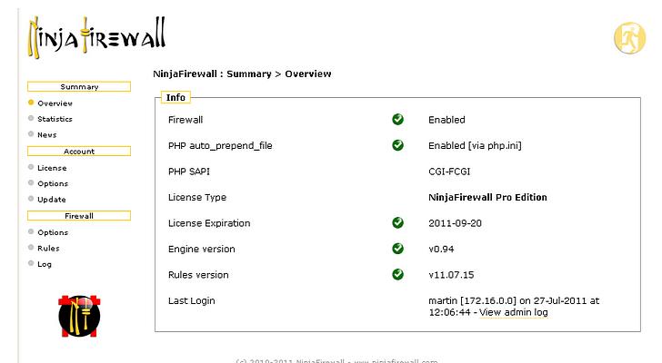 محافظت از وبسایت شما با اسکریپت امنیتی NinjaFirewall