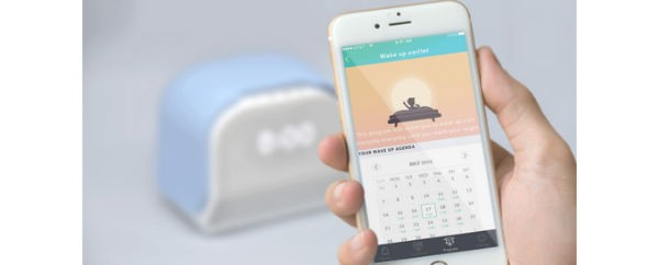 Smart alarm clock set to sleep