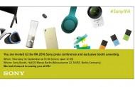 حضور SONY در نمایشگاه IFA2016 با ۸ محصول جدید