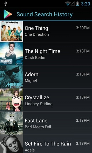 Sound Search Widget-Android-List