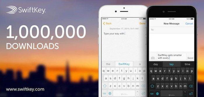 SwiftKey برای iOS در 24 ساعت 1 میلیون بار دانلود شد