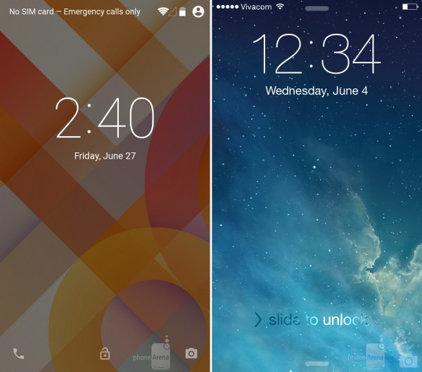 The-Android-L-and-iOS-8-lock-screens