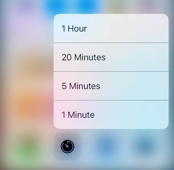 There Are Quick Actions for the Timer