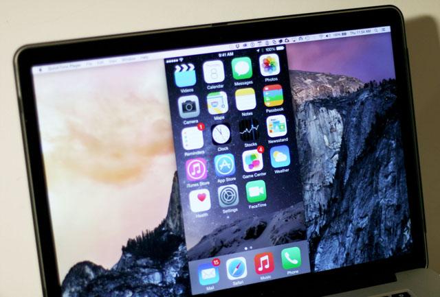 فیلم برداری از صفحه نمایش iPhone در سیستم عامل Yosemite