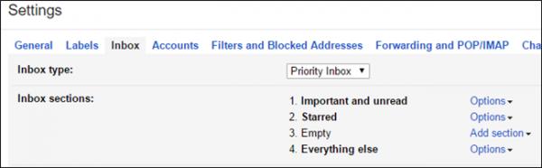 Turn on Priority Inbox