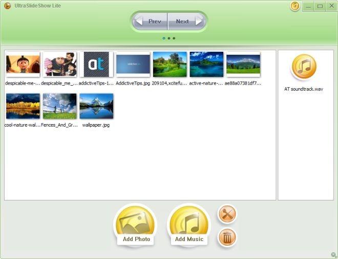 آموزش ساختن اسلایدشو توسط برنامه UltraSlideshow Lite