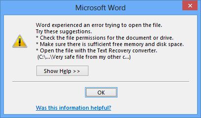 چگونگی باز کردن فایل های مسدود شده در آفیس 2013