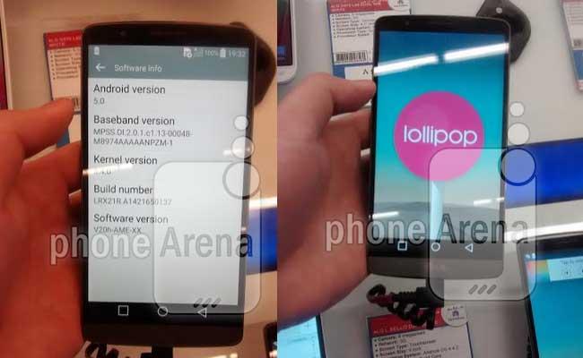 اندروید ۵ به صورت رسمی برای تلفن هوشمند LG G3 خاورمیانه منتشر شد